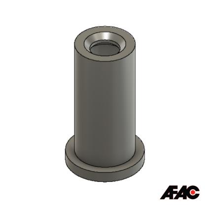 M10 Flat Top Silicone Cap | 074F-09.50-62BL | Blue | 62mm long