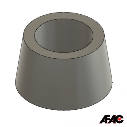 Hollow Bung 36-43 mm | Large Tapered Bung | Silicone Rubber